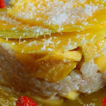 Mliečna ryža s mangom