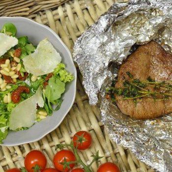 Hovädzie steaky so zeleninovou oblohou
