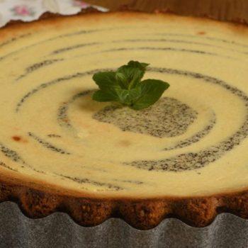 Tvarohovo makový cheesecake