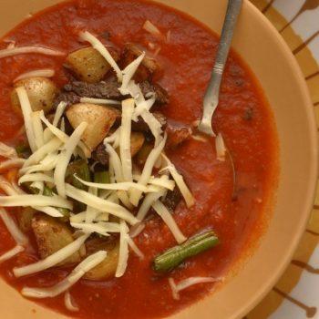 Mexická paradajková polievka