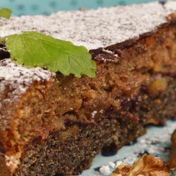 Tonkin makovo – orechový koláč bez múky